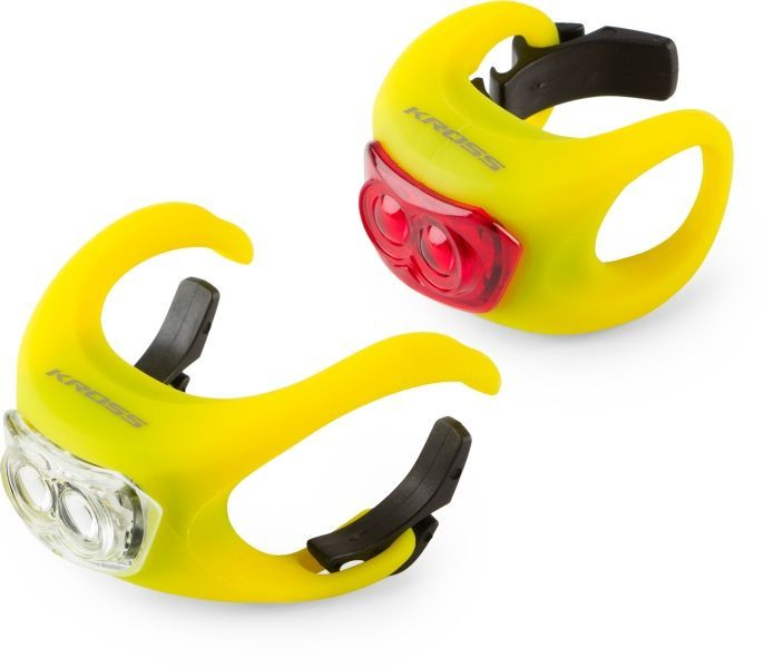 set-luces-led-bicicleta-kross-silicon-set-amarillo