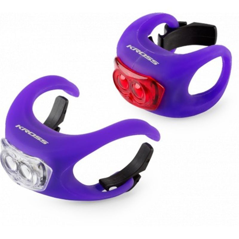 set-luces-led-bicicleta-kross-silicon-set-fucsia