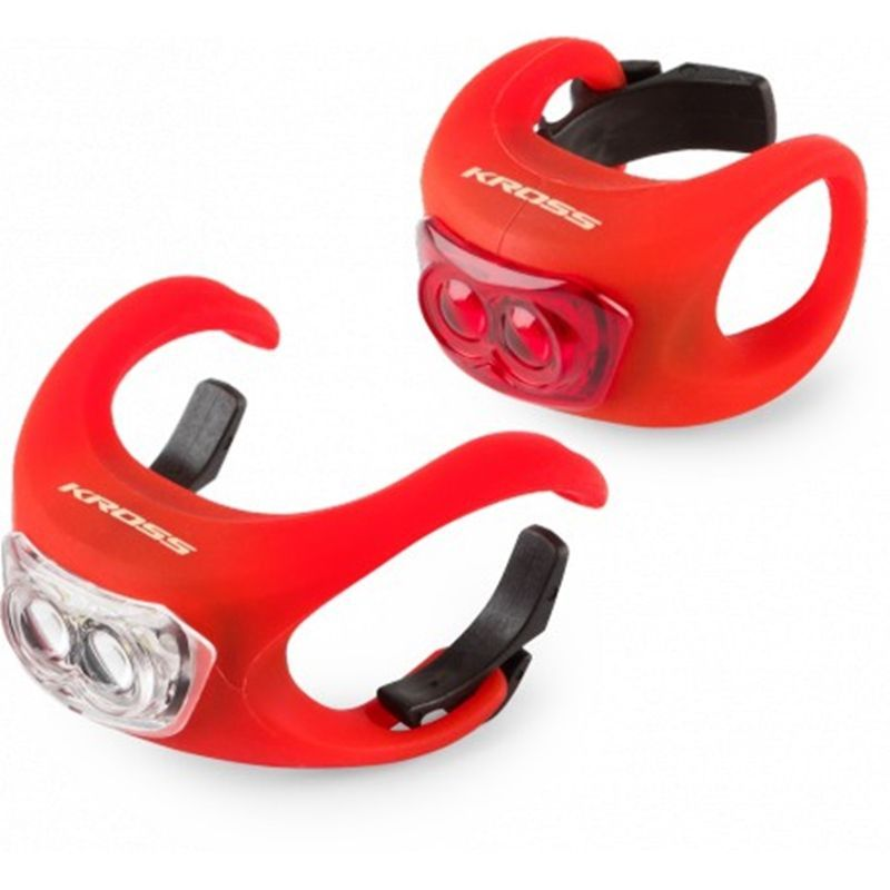 set-luces-led-bicicleta-kross-silicon-set-rojo