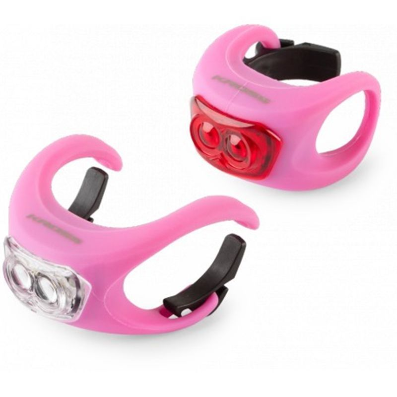 set-luces-led-bicicleta-kross-silicon-set-rosa